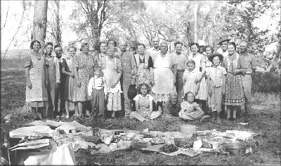 Jones picnic Carroll Co, MO 1940